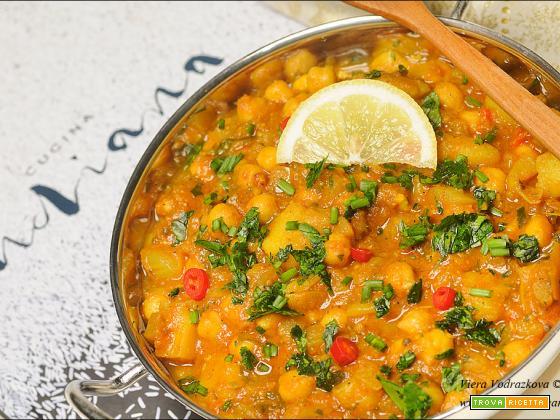 Chana aloo masala – masala di ceci e patate