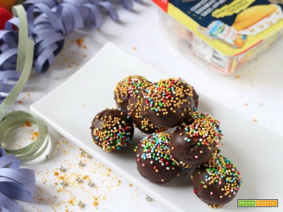 Palline di cioccolato senza uova!