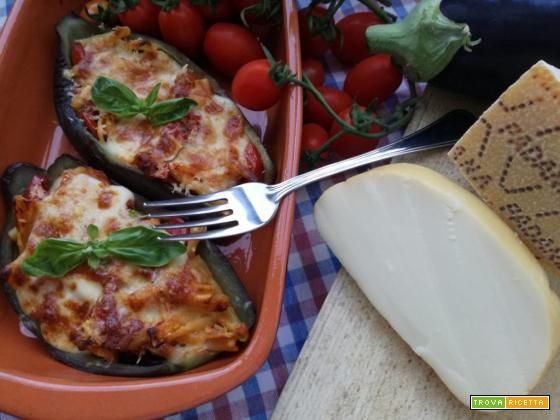 Pasta al forno melanzane e treccia di scamorza affumicata