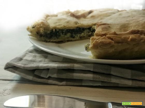 La torta salata bieta e mozzarella| Senza pasta sfoglia