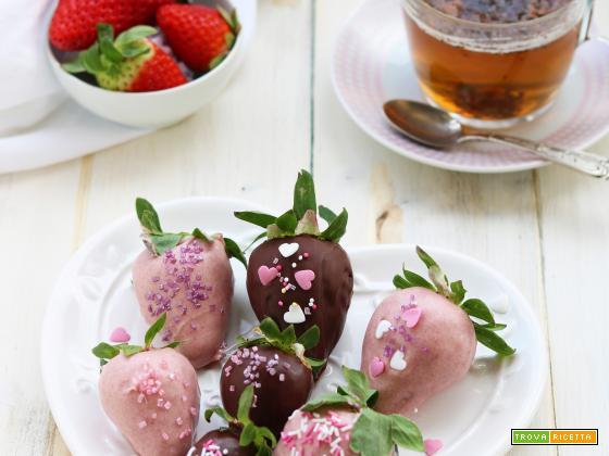 Fragole di San Valentino al cioccolato