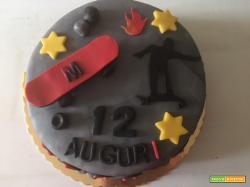 Torta Skateboard compleanno