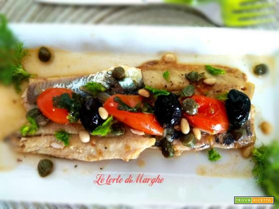 Sarde in umido con olive e capperi