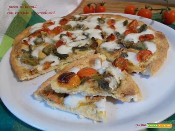 Pizza di kamut con carciofo e pomodorini – lievito madre