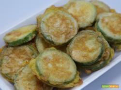 Zucchine fritte in pastella | Antipasto vegano facile