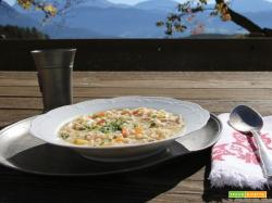 Zuppa d'orzo con speck | Primo piatto di legumi