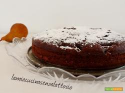 Torta pere e cioccolato – senza lattosio e senza uova – vegana