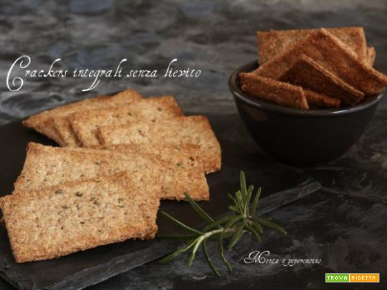Crackers integrali senza lievito