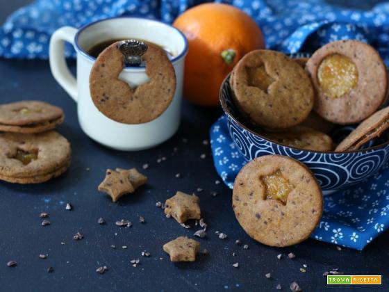 Frollini veg al farro cioccolato e arancia