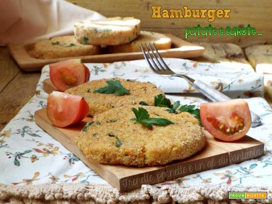 Hamburger di patate e carote senza uova