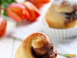 Muffins Brioche ripieni di nocciolata