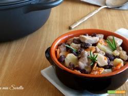 Spezzatino ai fagioli e verdure