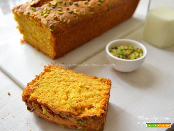 Plumcake carote e pistacchio goloso