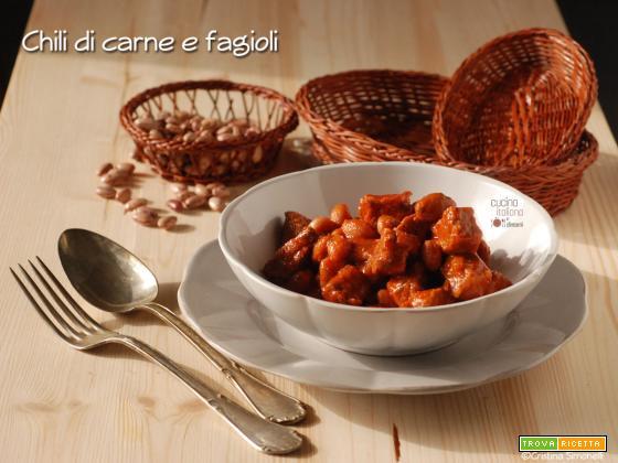 Chili di carne e fagioli borlotti