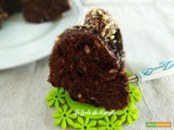 Torta nocciole e cioccolato fondente con crema