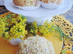 Muffin mimosa con crema senza uova