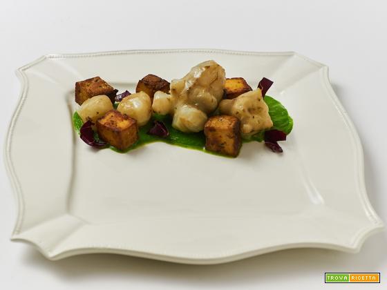 crema di bietole, topinambur e tofu affumicato