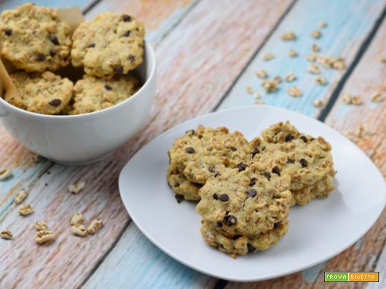 Biscotti vegani al farro soffiato e cioccolato – Vegan Cookies