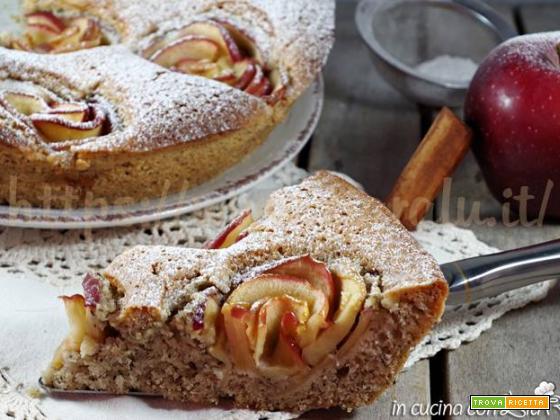 Torta alle mele cannella e zenzero saracena