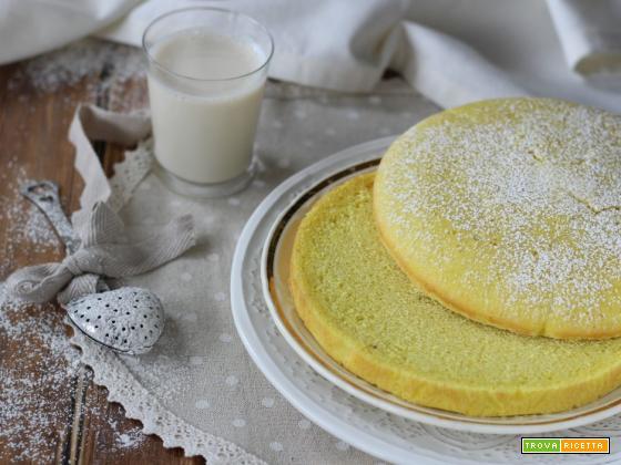 Pan di Spagna light senza uova con curcuma