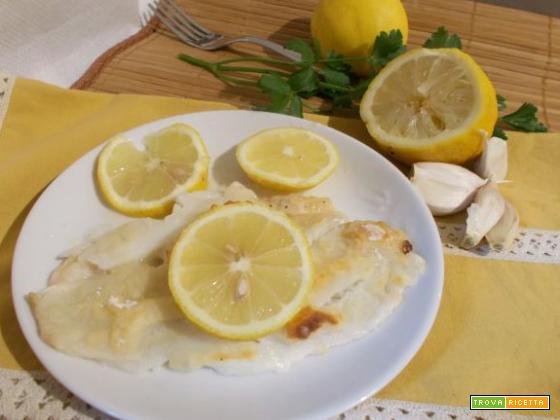 Platessa in salsa di limone