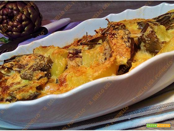 Carciofi e patate al forno gustosi