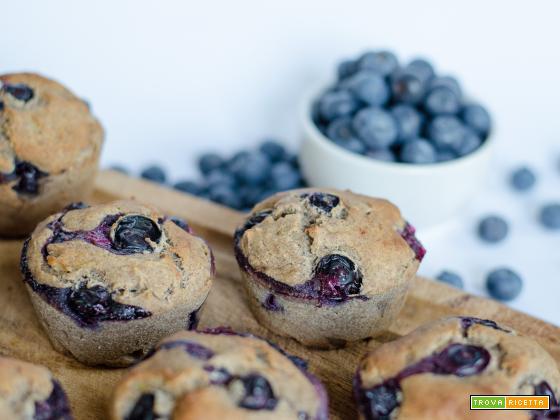 Muffin ai mirtilli con 6 ingredienti