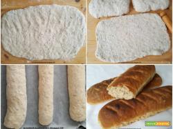 Filoni di pane semintegrale con semi di girasole