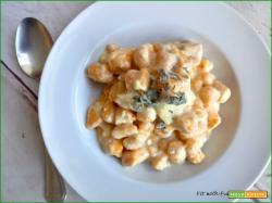 Gnocchi di Zucca e Fiocchi di Patate ai 4 Formaggi