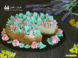 Flowers cheesecake, con ricotta