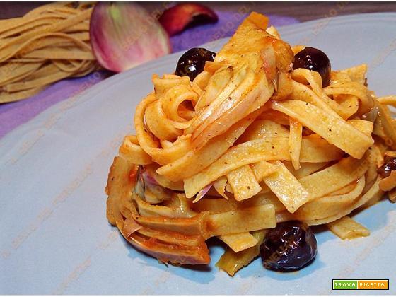 Tagliatelle con carciofi e olive
