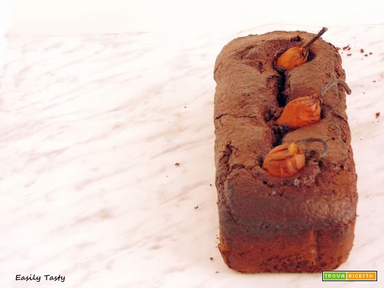 Plumcake al cacao con pere intere