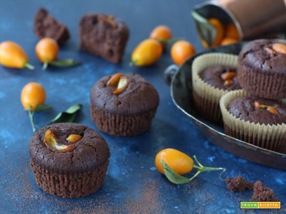 Muffin aquafaba kumquat e cacao amaro