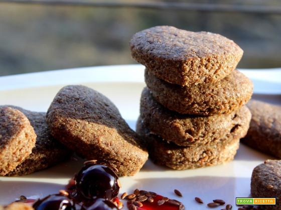 Biscotti di semi di lino e amarene!