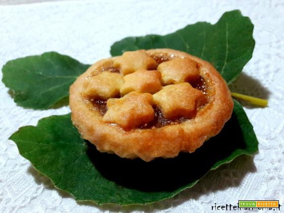 Crostatine friabili con marmellata di fichi