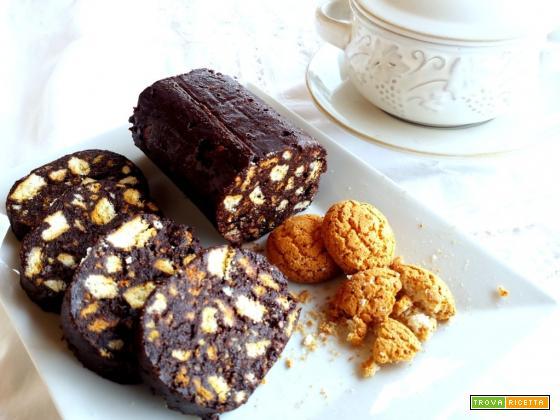 Salame di cioccolato e caffè senza uova
