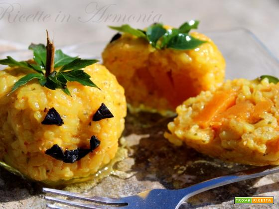 Zucca di arancini nuova ricetta di Halloween