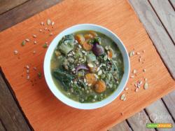 Zuppa di lenticchie e biete