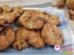 Biscotti pere e cioccolato senza burro