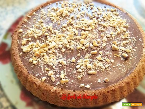 Crostata con crema namelaka al cioccolato