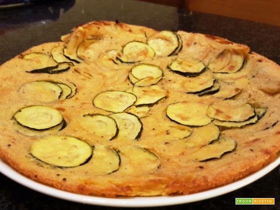 Farinata di ceci con zucchina e cipolla