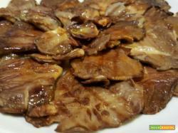 Funghi pleurotus alla griglia