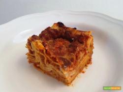 Lasagne al ragù di tofu al pomodoro