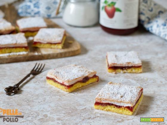 Torta slava con marmellata e meringa