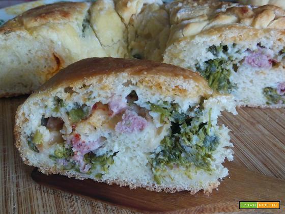 Tortano broccoli e salsiccia senza glutine
