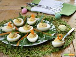 Uova ripiene senza maionese