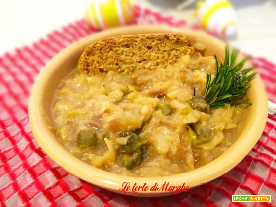Zuppa di cipolle di tropea e peperoni