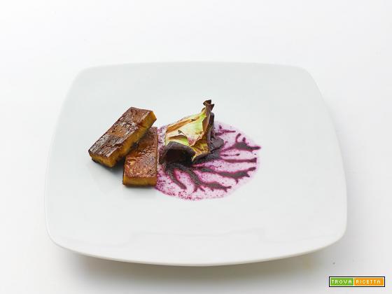 seitan al tamarindo, crema di cavolo rosso e radicchio