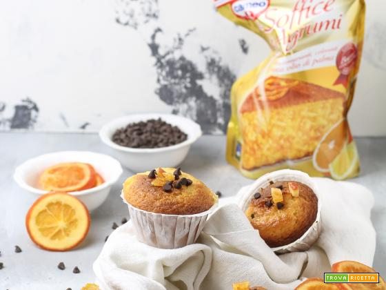 LE SOFFICI DI CAMEO: muffin con arancia disidratata e gocce di cioccolato