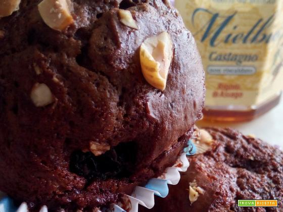 Muffin cacao, ricotta e Mielbio